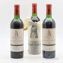 Chateau Latour 1971, 3 bottles