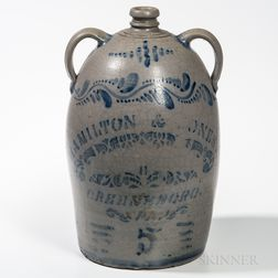 Five-gallon Cobalt-decorated Jug