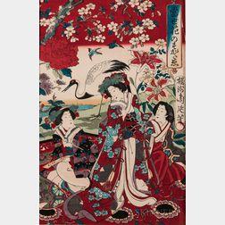 Toyohara Chikanobu (1838-1912), Woodblock Print
