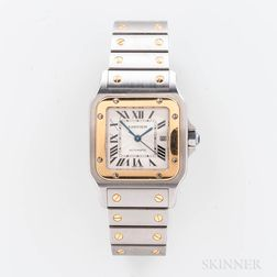 """Cartier """"Santos Galbee"""" Two-tone Reference 2319 Automatic Wristwatch"""