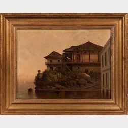 Lemuel Maynard Wiles (American, 1826-1905)      Old House, Panama
