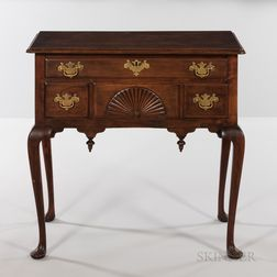 Queen Anne Carved Cherry Dressing Table