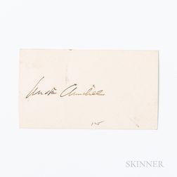 Churchill, Winston (1871-1947) Signed Card.