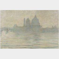 Josephine Ames Morton (American, b. 1854)  Santa Maria della Salute, Venice, Evening