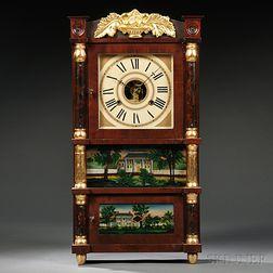 Birge, Mallory & Co. Miniature Triple-decker Shelf Clock