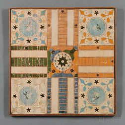 Painted Pine Parcheesi Game Board