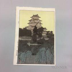 Hiroshi Yoshida (1876-1950), Himeji Castle