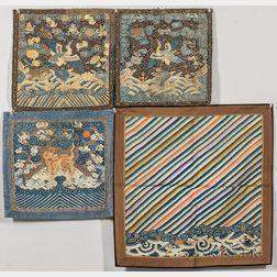 Four Kesi Textile Items
