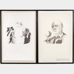 Curtis Hooper (British, 20th Century) and Sarah Churchill (British, 1914-1982)    Two Prints from the Sir Winston Suite
