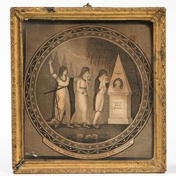 Framed Washington Mourning Engraving