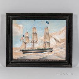 European School, 19th Century      Ship Robert Morris   Capn E Dyer Coming Into Le Havre Sept 2 1833
