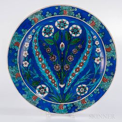 Théodore Deck Isnik-style Earthenware Charger