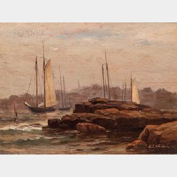 George Savary Wasson (American, 1855-1932)      From Fishing Island, Kittery Point, Maine