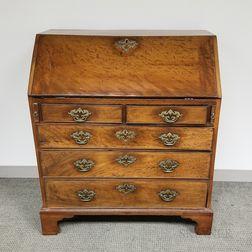 George III Mahogany Slant-lid Desk