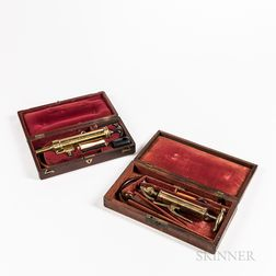 Two 19th Century Cased Enema Sets