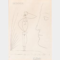 Pablo Picasso (Spanish, 1881-1973)      Untitled (Profil et femme nue)