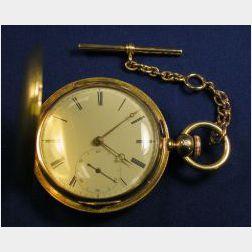 18kt Gold Hunting Case Pocket Watch. Ab. Jackson, Liverpool