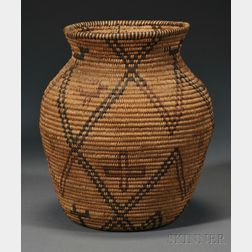 Small Apache Polychrome Basketry Olla