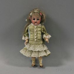 Tiny K&R Bisque Head Girl Doll