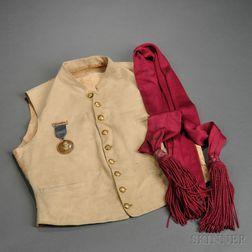 Vest, Sash, and Veteran's Medal of Lt. Robert A. Hall