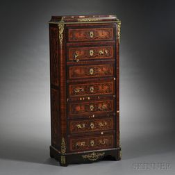 Louis XVI-style Ormolu-mounted and Marquetry Secretaire à Abattant
