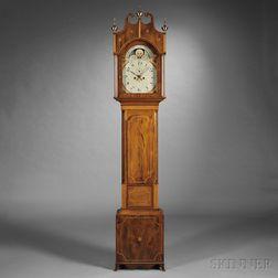 Elaborately Inlaid Mahogany Tall Clock