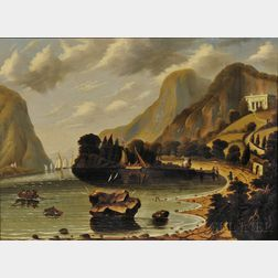 Thomas Chambers (New York/England, 1808-1869)      Undercliff, near Coldspring (The Seat of General George P. Morris)