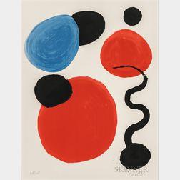 Alexander Calder (American, 1898-1976)      Untitled (Disks and Pollywog)