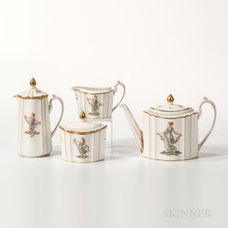 Four-piece Wedgwood Bone China Tea Set