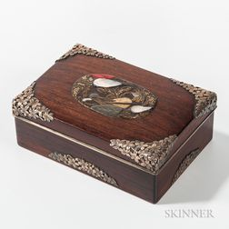 Metal-decorated Wood Box and Cover