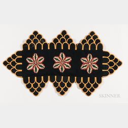 Penny Rug with Embroidered Flowers