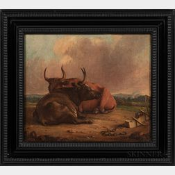 Dutch School, 19th Century      Two Framed Paintings of Cattle.
