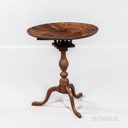 Tiger Maple Tilt-top Table