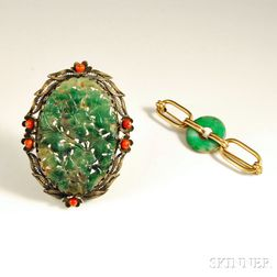 Two Jade Brooches