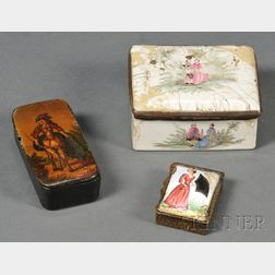 Three French Erotic Snuff Boxes