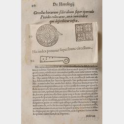 Gallucius, Johannes Paulus (1538-1621)   De Fabrica, et usu Novi Horologii Solaris