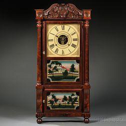 Birge, Mallory & Co. Mahogany Shelf Clock