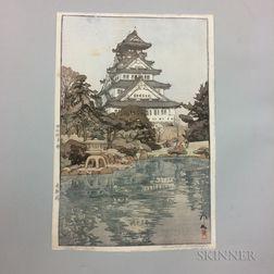 Hiroshi Yoshida (1876-1950), Osaka Castle