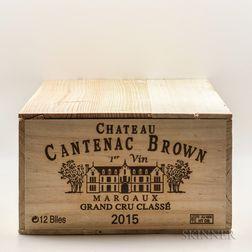 Chateau Cantenac Brown 2015, 12 bottles (owc)