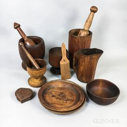 Group of Mostly Treen Items