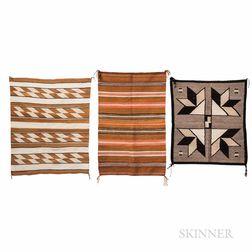 Three Navajo Saddle Blankets