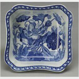 Wedgwood Stone China Blue Transfer Printed Bowl