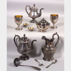 Thirty-eight Assorted Presentation Pieces of Coin, Sterling, and Silver Plate Relating to John Chase