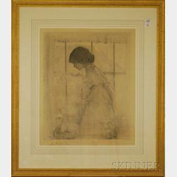 Lillian Westcott Hale Print Portrait of a Girl
