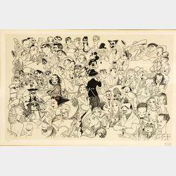 Al (Albert) Hirschfeld (American, 1903-2003)      Movieland