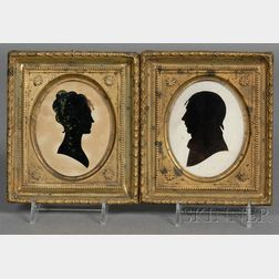 Pair of Silhouette Portraits by William King