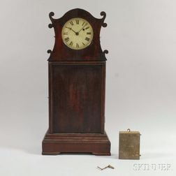 Mahogany Stained Pine Shelf Clock
