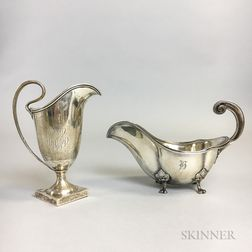 Towle Sterling Silver Creamer and Footed Sauceboat