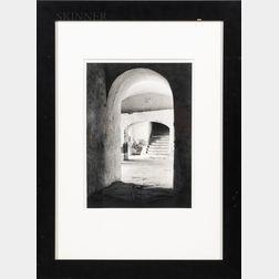 Tina Modotti (Italian, 1896-1942)      Convent of Tepotzotlan, Mexico (Stairs through Arches)