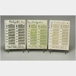 Seven Wedgwood Queen's Ware Calendar Tiles